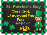 St. Patrick's Day Close Read, Literacy, and Fun Pack