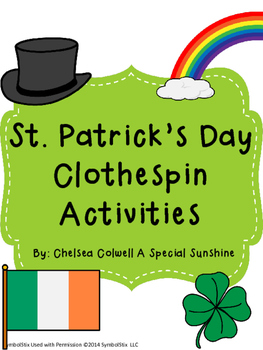 St. Patrick's Day Clothespin Activities