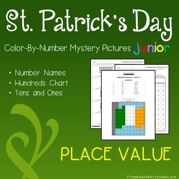St. Patrick's Day Color-By-Number: Place Value (K-2)
