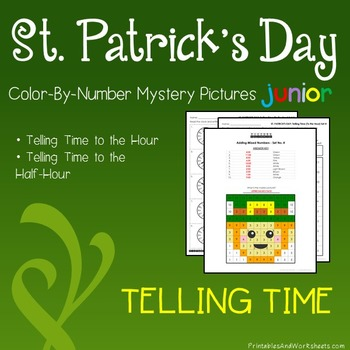 St. Patrick's Day Telling Time the Hour / Telling Time to