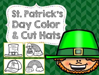 St. Patrick's Day Color & Cut Hats