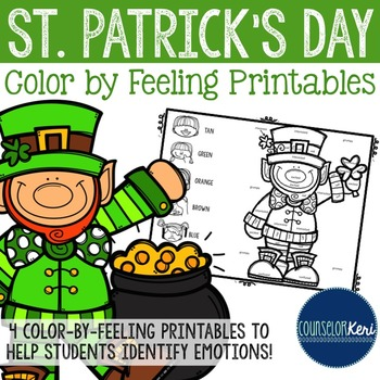 St Patrick's Day Color by Feeling Printables - Elementary