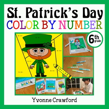 St. Patrick's Day Color by Number (sixth grade) Color by D