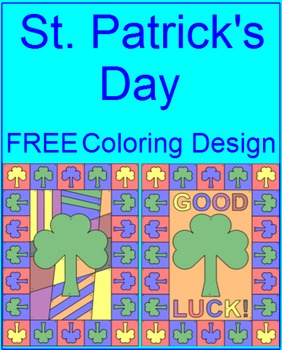 St. Patrick's Day - Coloring Activity (2 choices) FREEBIE