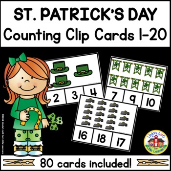 St. Patrick's Day Counting Clip Cards 1-10