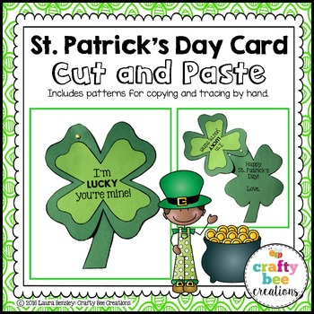 St. Patrick's Day Cut and Paste Card