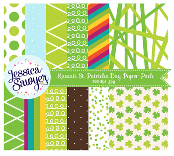 St. Patrick's Day Digital Papers or Backgrounds