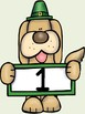 St. Patrick's Day Dog Number Posters Uppercase and Lowercase