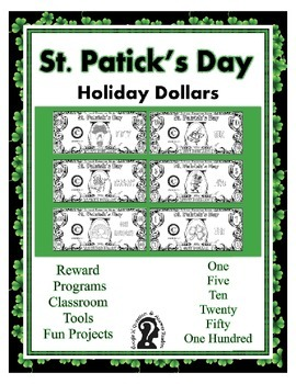 St. Patrick's Day Dollars - Teach Money, Use for Rewards,