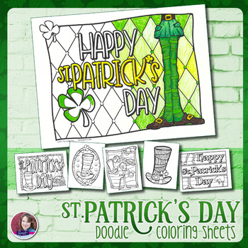 St. Patrick's Day Doodle Coloring 2017