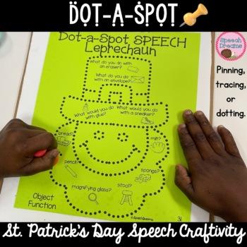 St. Patrick's Day Dot a Spot Speech Therapy Craft pinning