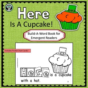 St. Patrick's Day Cupcake   Emergent Reader   Build-A-Word