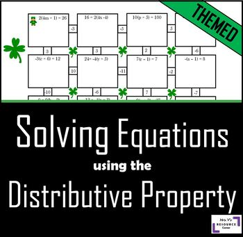 St. Patrick's Day Equation Activity