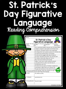 St. Patrick's Day Figurative Language Identification Works