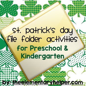 St. Patrick's Day File Folder Activities for Preschool and