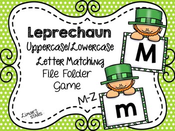 St. Patrick's Day File Folder Game:  UPPERCASE to lowercas