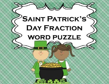 Fractions St. Patrick's Day for Math or Literacy Centers