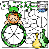 St. Patrick's Day Spinner Games Clipart Bundle