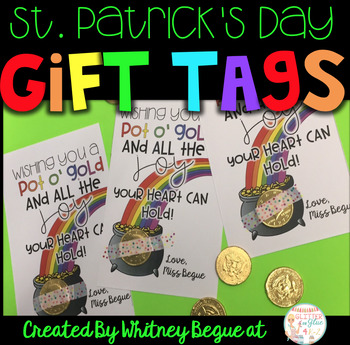 St. Patrick's Day Gift Tags- Editable