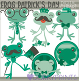 St Patrick's Day Green Frog Clipart
