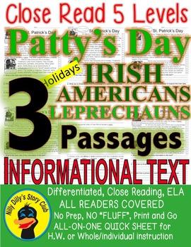 St. Patrick's Day Irish Americans Leprechauns 3 Passages 5