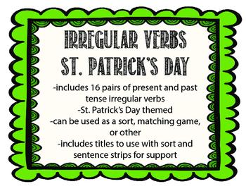 St. Patrick's Day Irregular Verb Sort