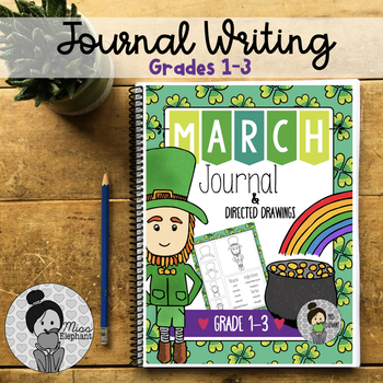St. Patrick's Day Journal Prompts and Directed Drawing Spr