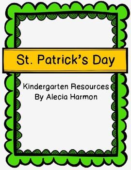 St. Patrick's Day- Kindergarten Resources