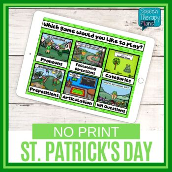 St. Patrick's Day Language & Articulation Games - No Print