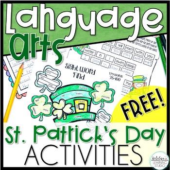 St. Patrick's Day Language Arts No Prep Activities Freebie