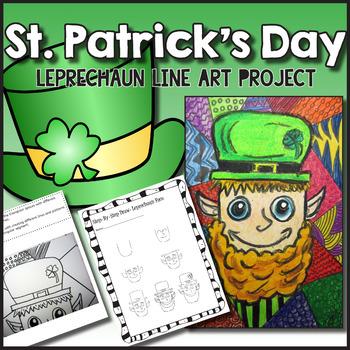 St. Patrick's Day Leprechaun Line Art Lesson