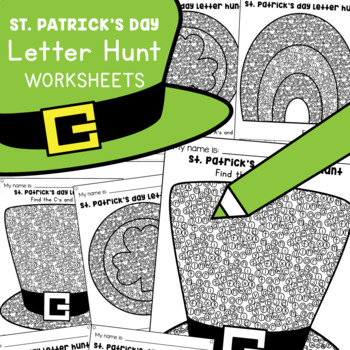St Patrick's Day Letters of the Alphabet Worksheets
