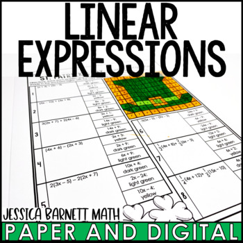 St. Patrick's Day Math Activity: Linear Expressions Review