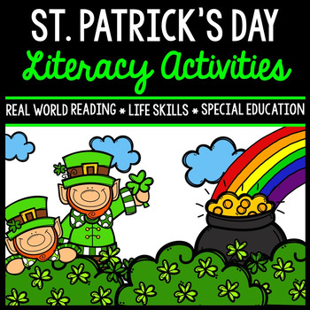 St. Patrick's Day Literacy - Special Education - Print & G