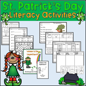 St. Patrick's Day Literacy Unit- Emergent Reader, Centers
