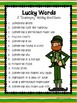 """St. Patrick's Day """"Lucky Words"""" Scattergory-Type Holiday Game"""