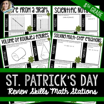 8th Grade Math Review Stations