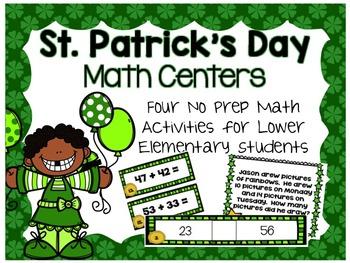 St. Patrick's Day Math Centers- NO PREP