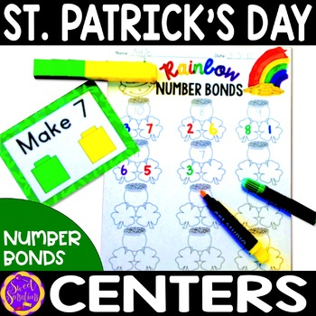 St. Patrick's Day Math Activities - Rainbow Number Bonds