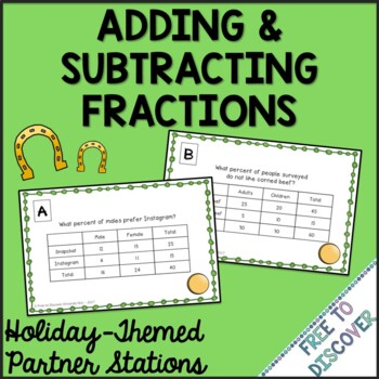 St. Patrick's Day Math Activity - Adding and Subtracting F