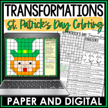 St. Patrick's Day Math Activity: Transformations Review