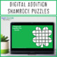 St. Patrick's Day Math Centers: Addition Shamrock Puzzles
