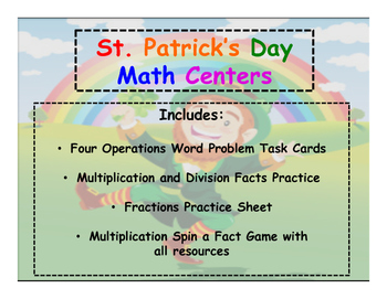 St. Patrick's Day Math Centers Bundle