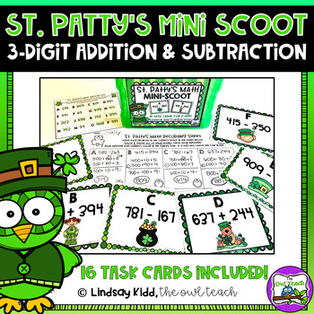 St. Patrick's Day Math Game:  Addition and Subtraction SCOOT