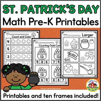 St. Patrick's Day Math Preschool Printables