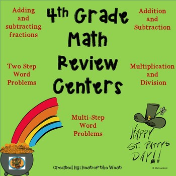 St. Patrick's Day Math Review Centers