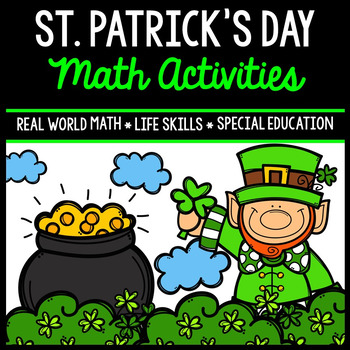St. Patrick's Day Math - Special Education - Print & Go -