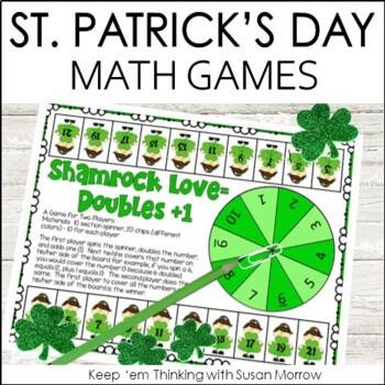 St. Patrick's Day Math Games FREE