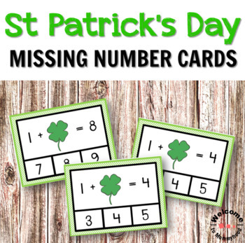 St Patrick's Day Missing Number Clip Cards
