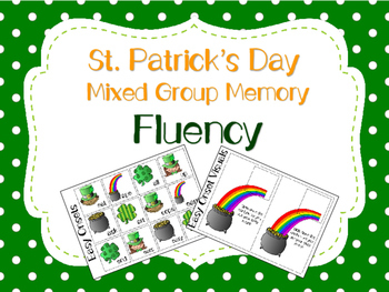 St. Patrick's Day Mixed Group Memory - Fluency 20% off for